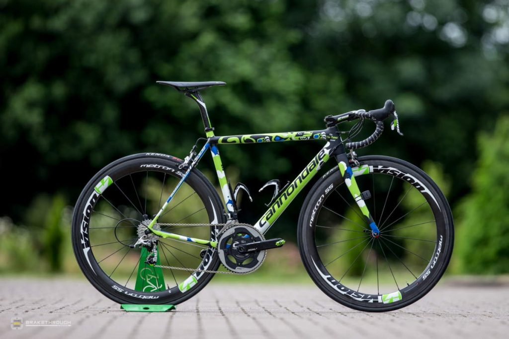 Elia Viviani custom-painted Cannondale EVO bike for the Tour de France 2014
