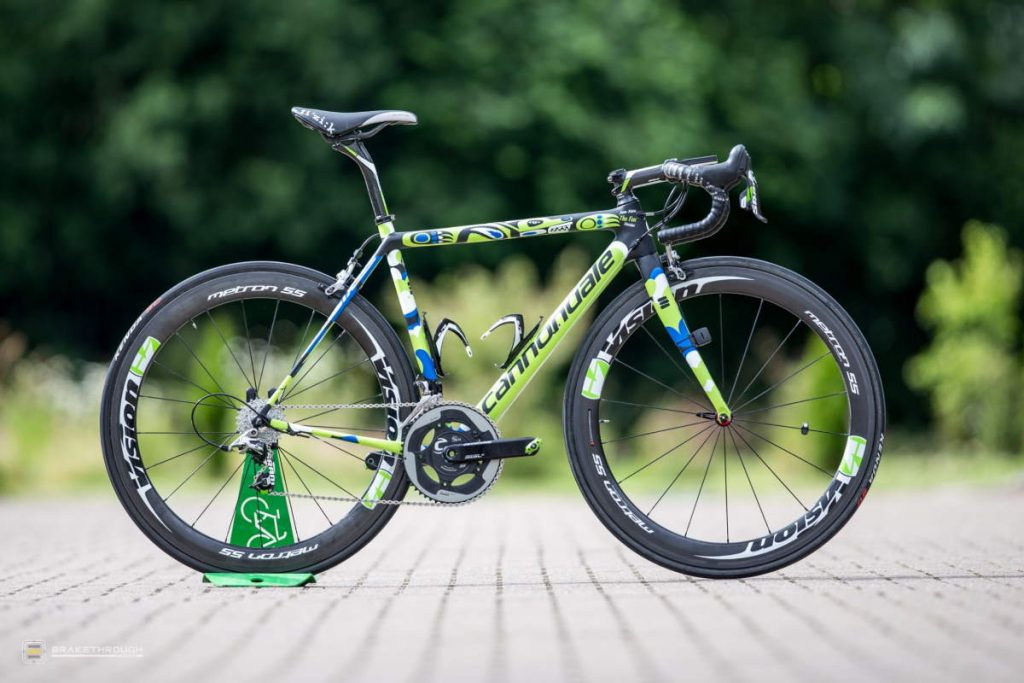 Jean-Marc Marino custom-painted Cannondale EVO bike for the Tour de France 2014