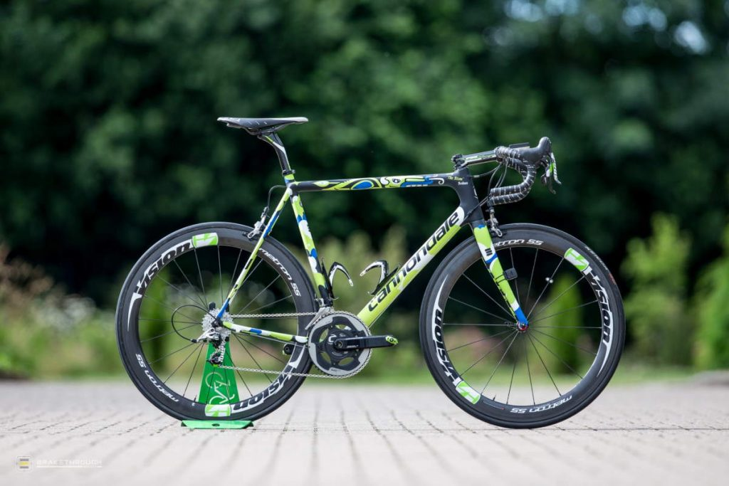 Maciej Bodnar custom-painted Cannondale EVO bike for the Tour de France 2014
