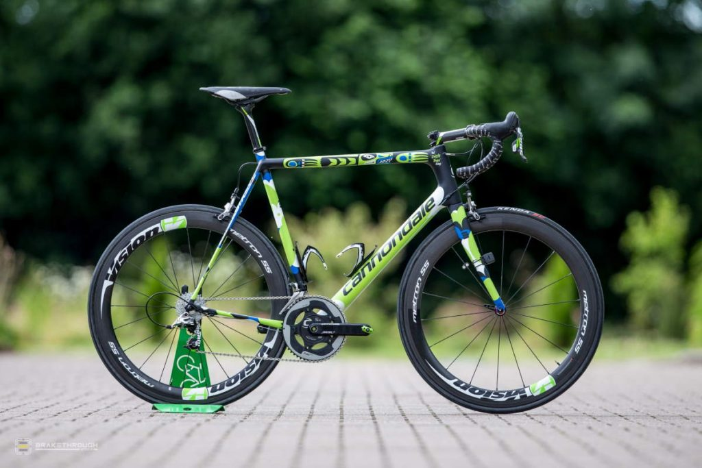 Ted King custom-painted Cannondale EVO bike for the Tour de France 2014