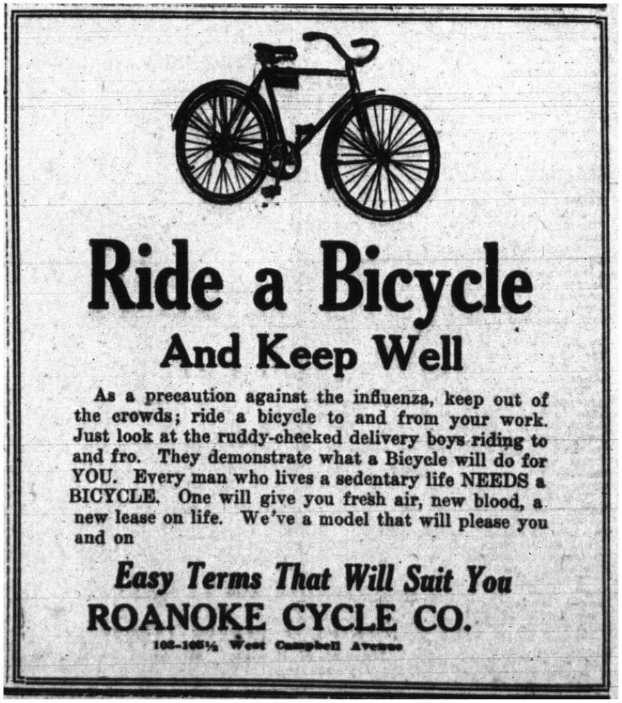 Spanish Flu - Ride a bicycle and Keep Well
