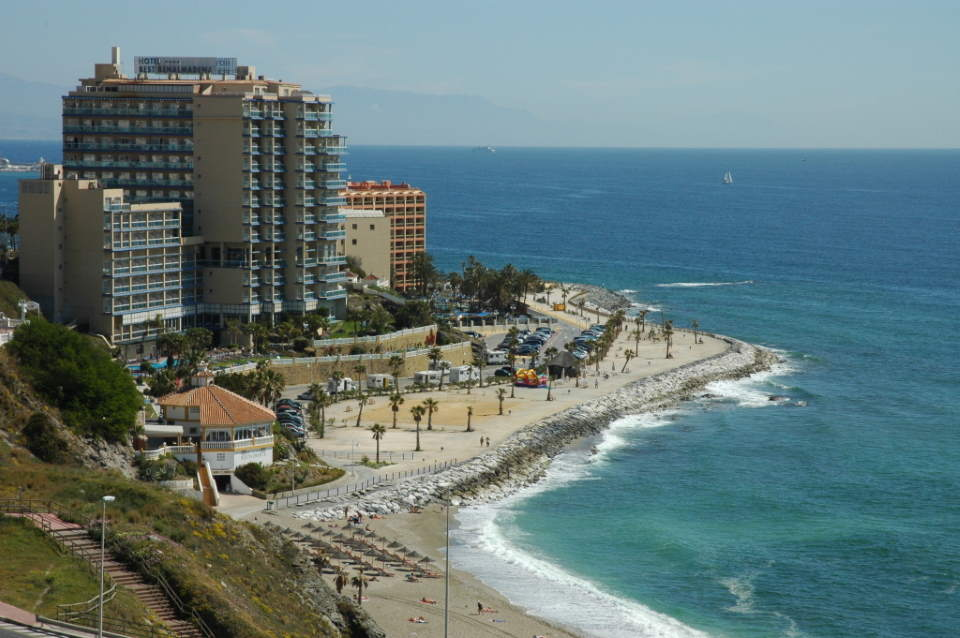 Part of the Benalmádena coast