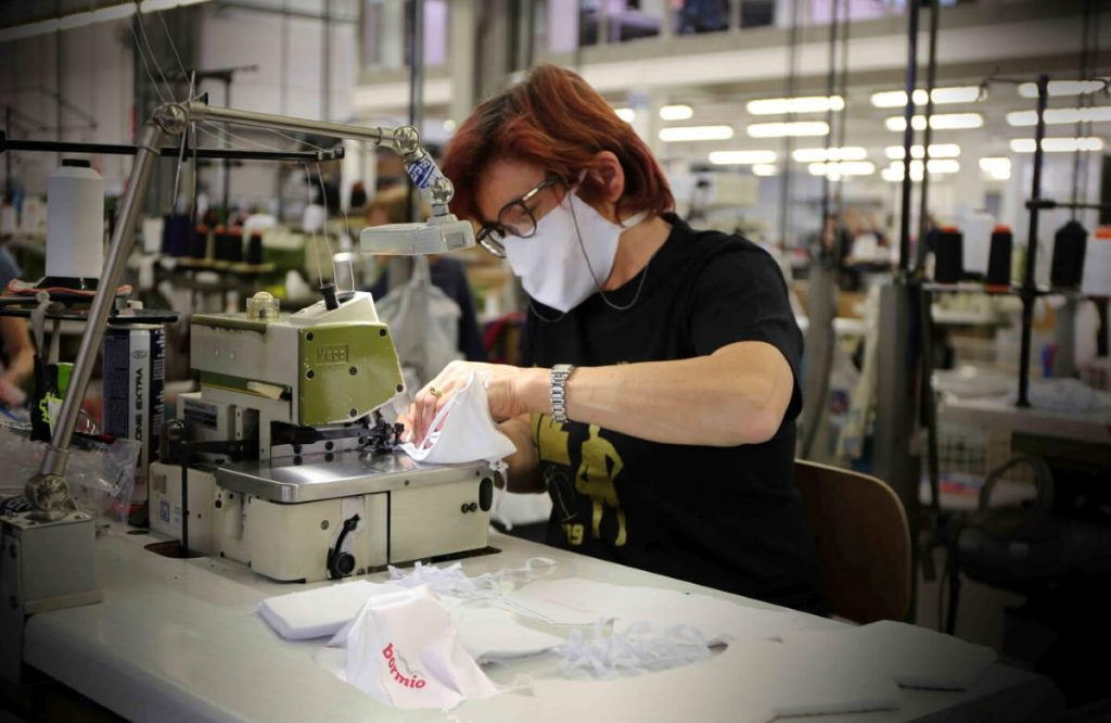 Santini SPCV02 washable masks production