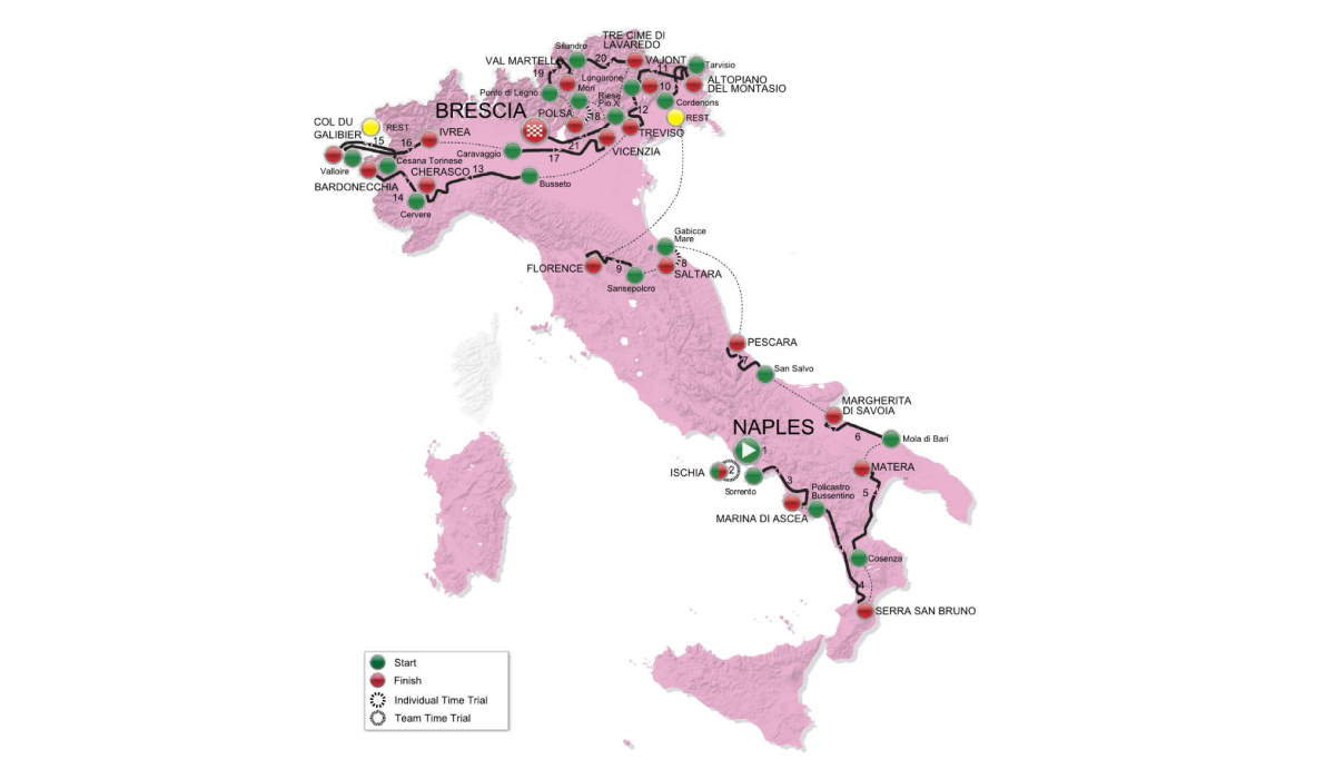 Giro d'Italia 2013 route (featured)