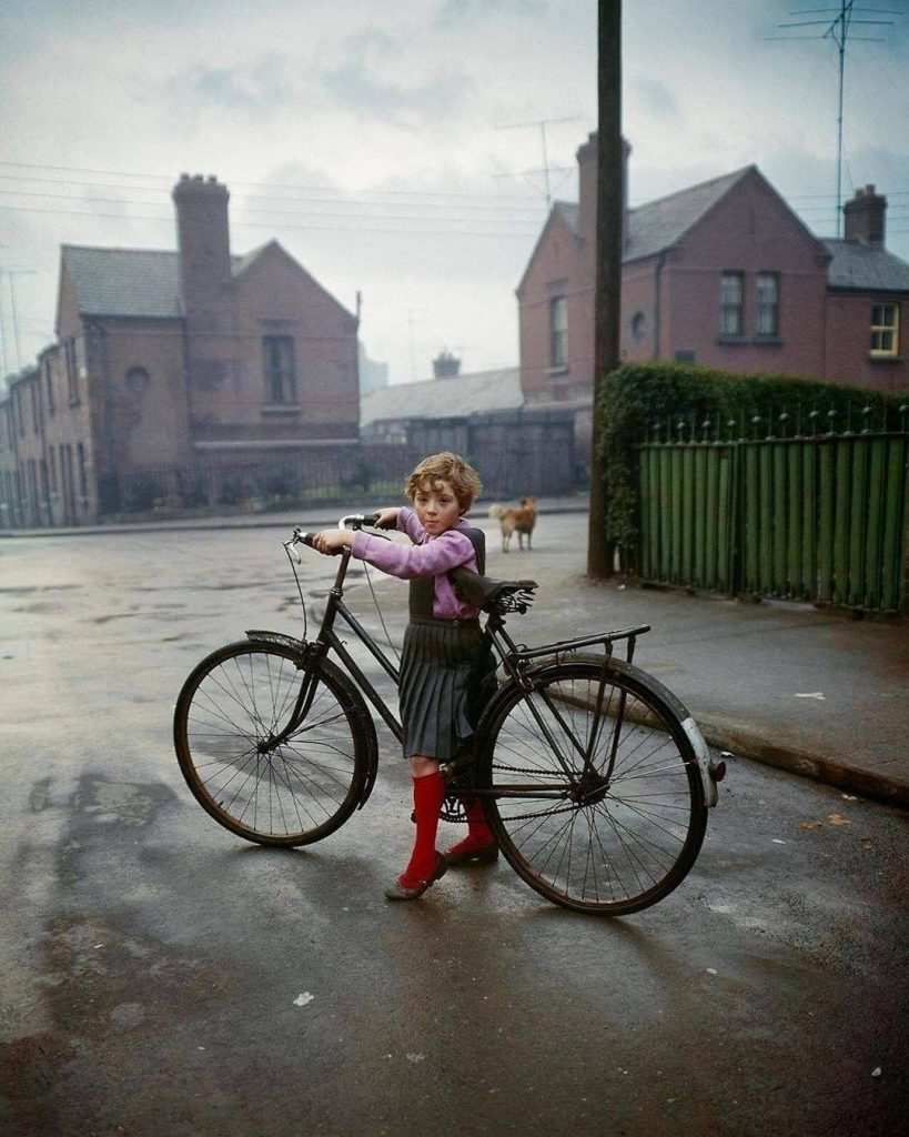 Girl with Bicycle, Dublin, 1966