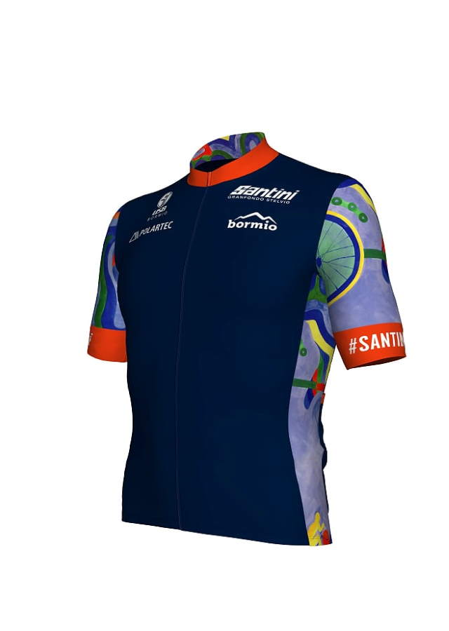 2021 Granfondo Stelvio Santini Eco-Friendly Official Jersey (Male)