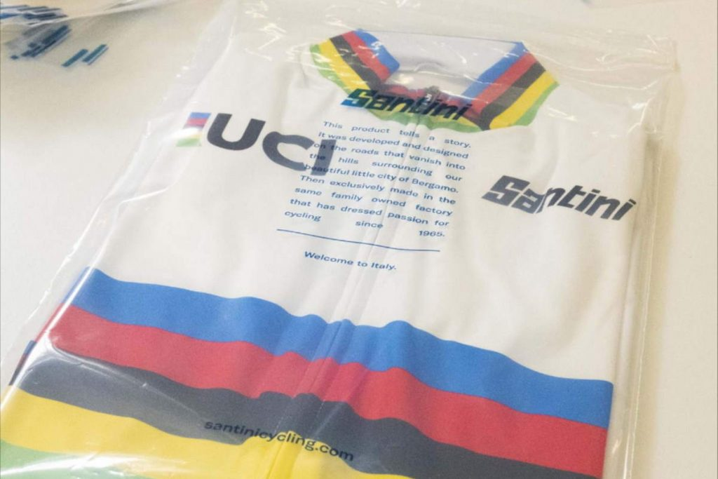 Santini bids farewell to plastic bags as it ushers in fully compostable, eco-friendly packaging for its technical cycling wear.