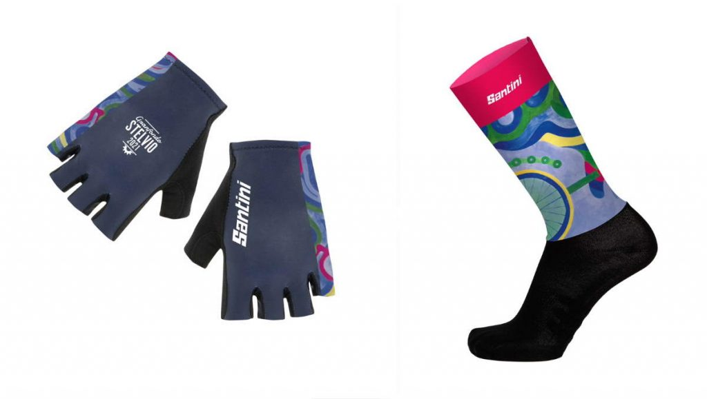 Granfondo Stelvio Santini 2021 Special Women's socks and gloves