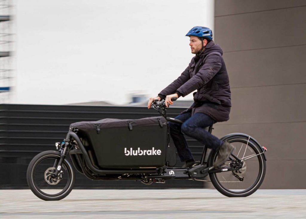 An e-cargo bike equipped with Blubrake ABS