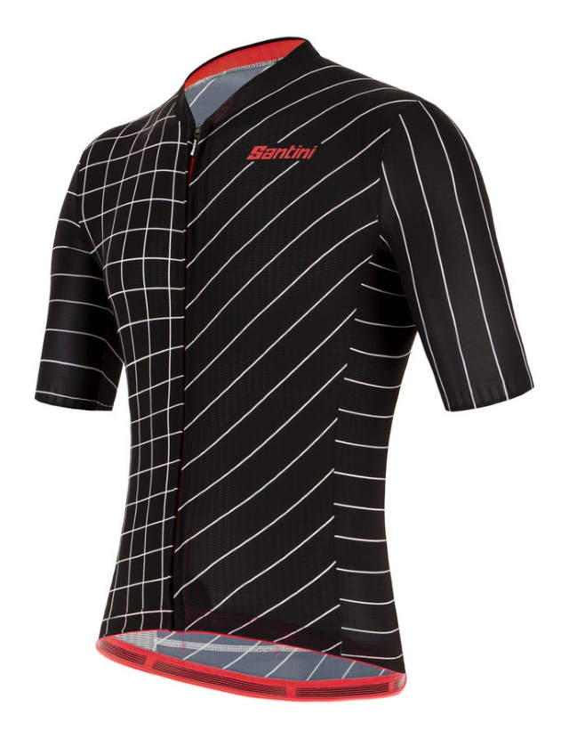 New Eco-Friendly Jerseys from Santini 2021 Cycling Collection: SANTINI SS21 Eco Sleek Dinamo jersey - men, black, front