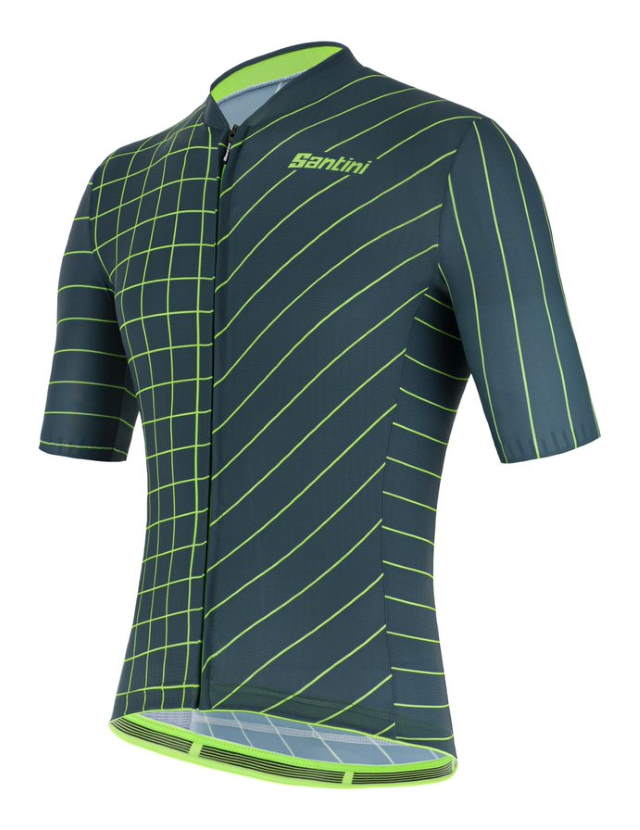 New Eco-Friendly Jerseys from Santini 2021 Cycling Collection: SANTINI SS21 Eco Sleek Dinamo jersey - men, green