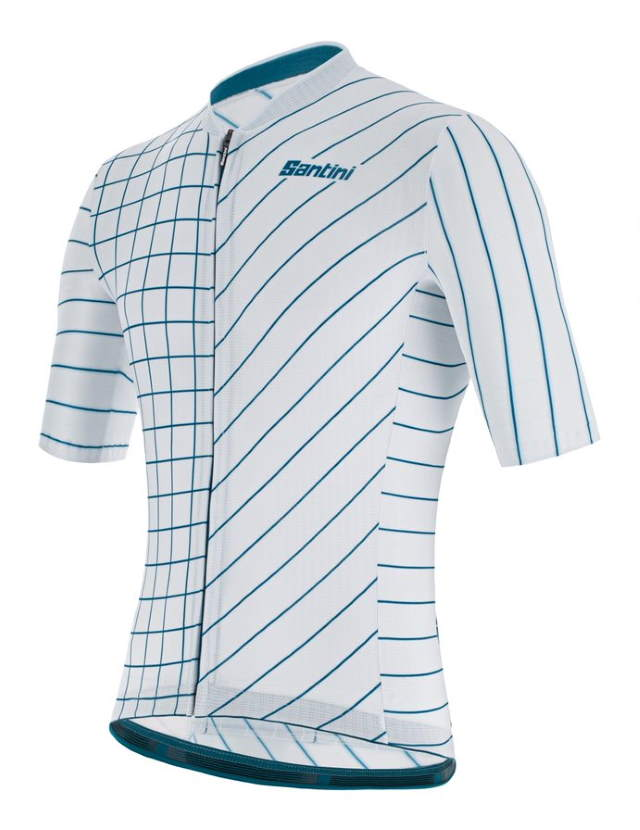 New Eco-Friendly Jerseys from Santini 2021 Cycling Collection: SANTINI SS21 Eco Sleek Dinamo jersey - men, silver