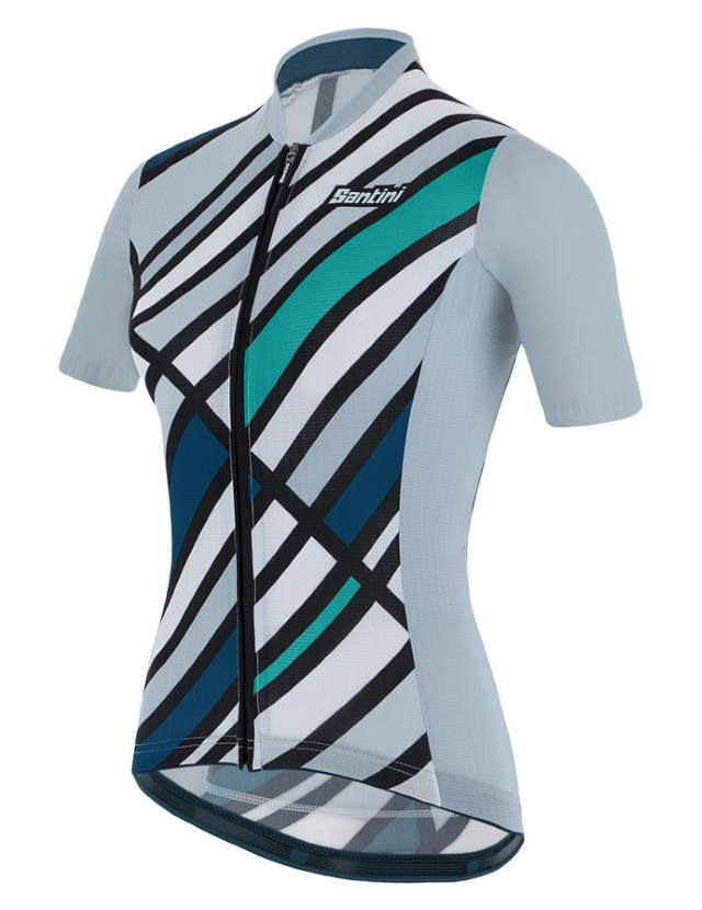 New Eco-Friendly Jerseys from Santini's 2021 Cycling Collection: SANTINI SS21 Raggio jersey, women, azure