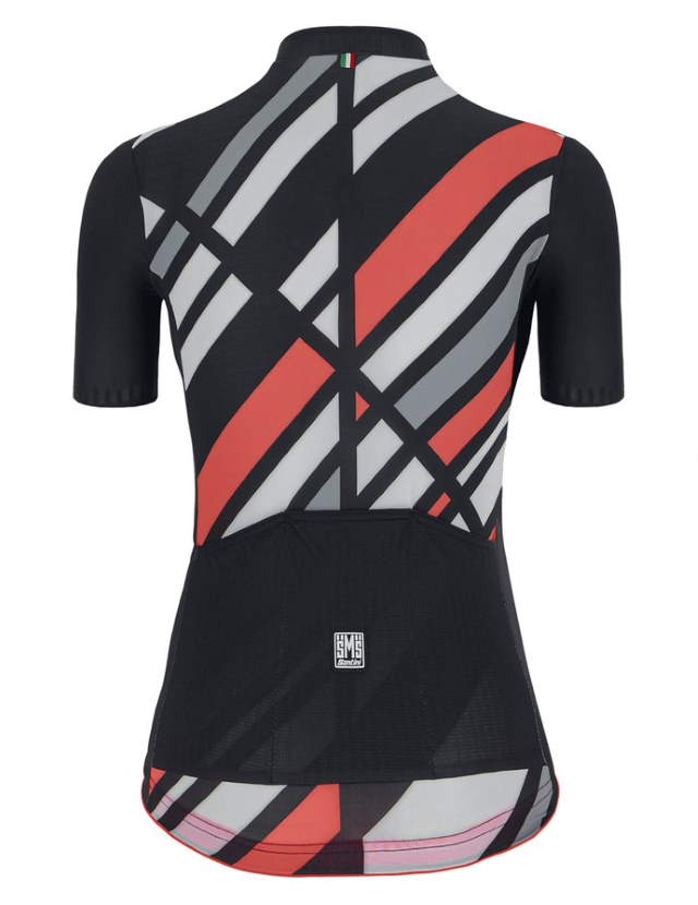 New Eco-Friendly Jerseys from Santini's 2021 Cycling Collection: SANTINI SS21 Raggio jersey, women, black, rear