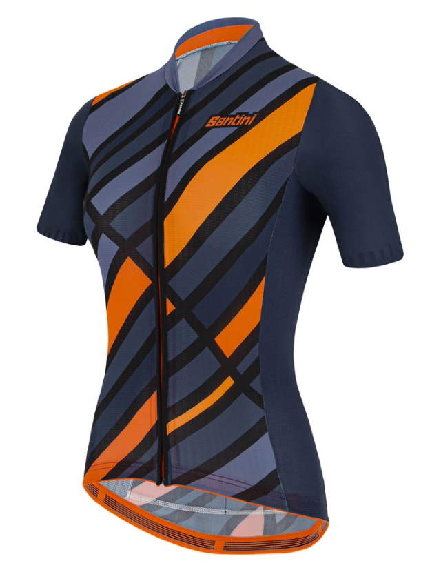 New Eco-Friendly Jerseys from Santini's 2021 Cycling Collection: SANTINI SS21 Raggio jersey, women, blue