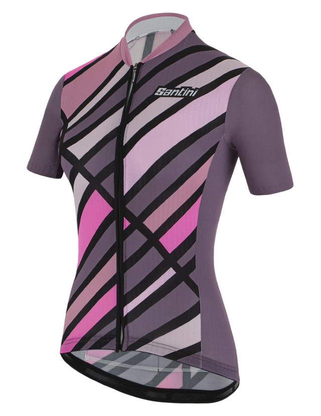 New Eco-Friendly Jerseys from Santini's 2021 Cycling Collection: SANTINI SS21 Raggio jersey, women, violet, front