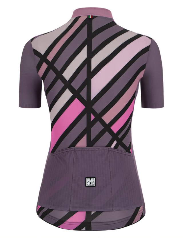 New Eco-Friendly Jerseys from Santini's 2021 Cycling Collection: SANTINI SS21 Raggio jersey, women, violet, rear