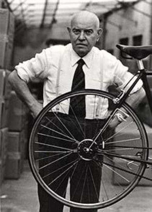 Tullio Campagnolo, the inventor of the quick-release mechanism.