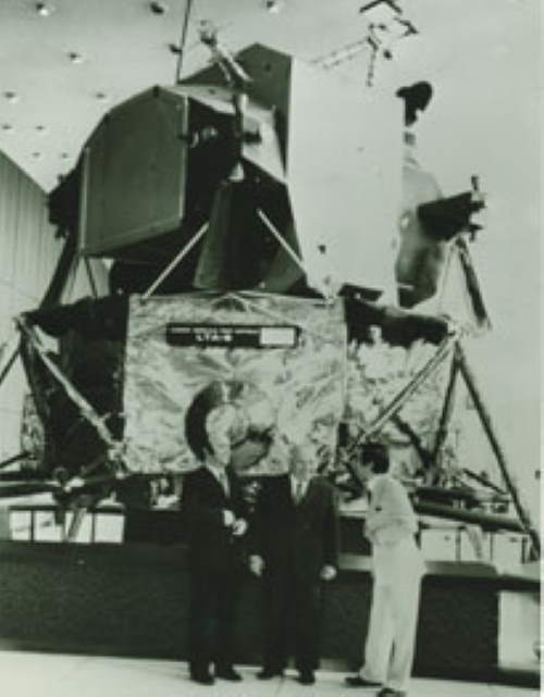 Tullio Campagnolo with NASA satellite