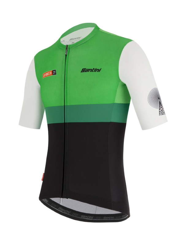 Santini Vuelta a España 2021 jerseys - Special Extremadura kit for stage 14 - jersey (front)