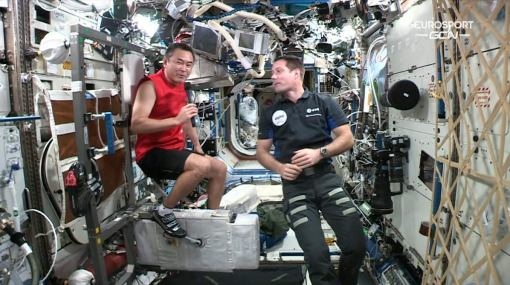 Astronauts aboard the ISS were watching the Tour de France live